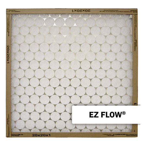 "Flanders - EZ Flow, One Sided Metal - 20"" x 20"" x 1"" - MERV 4"