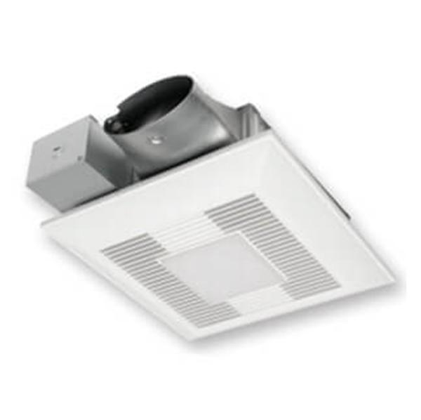 Panasonic - WhisperValue-DC 50-80-100 CFM Pick-A-Flow Ceiling Ventilation Fan w/ Multi-Speed for ASHRAE 62.2 & LED Light - FV-0810VSSL1