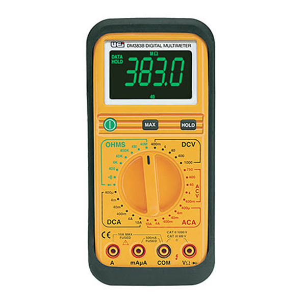 UEi - DM383B Digital Multimeter w/ Protective Boot - DM383B