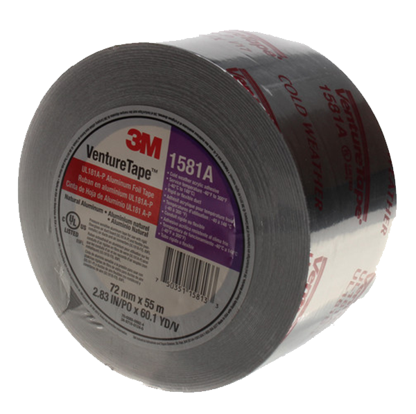 "3M - Foil Duct Closure Tape (3"" x 180') - UL181A-P-3"