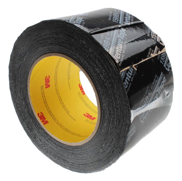 "3M - Printed Flexible Duct Closure Tape, Black (3"" x 360') - UL181B-FX-B3"