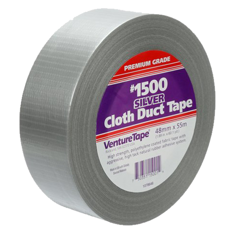 "3M - Professional Grade Cloth Duct Tape, Silver (3"" x 180') - 1500-S-3"