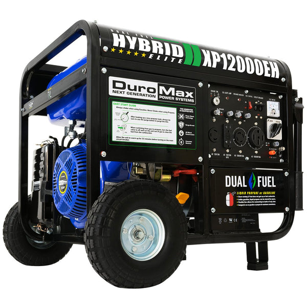 DuroMax - 12000W 18 HP Portable Hybrid Gas Propane Generator - XP12000EH