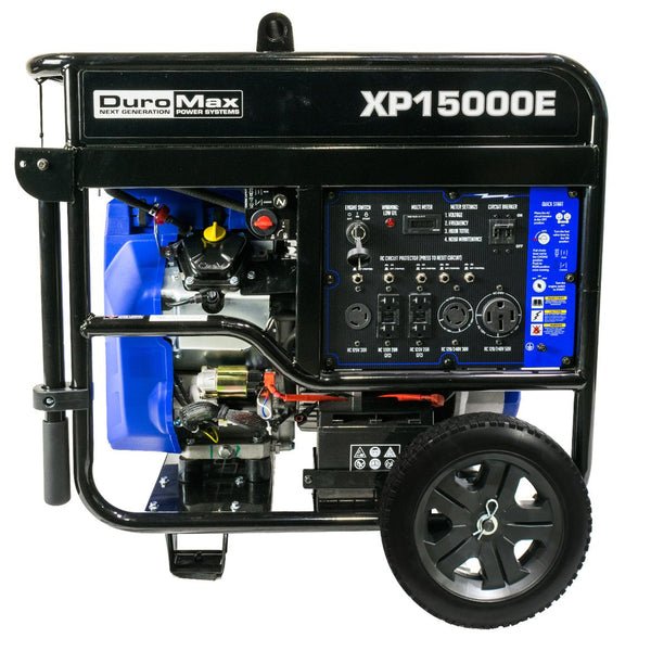 DuroMax - 15000W V-Twin Gas Powered Electric Start Portable Generator - XP15000E