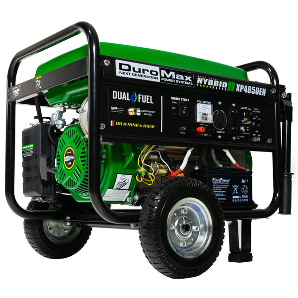 DuroMax - 4850W Electric Start Dual Fuel Hybrid Generator - XP4850EH