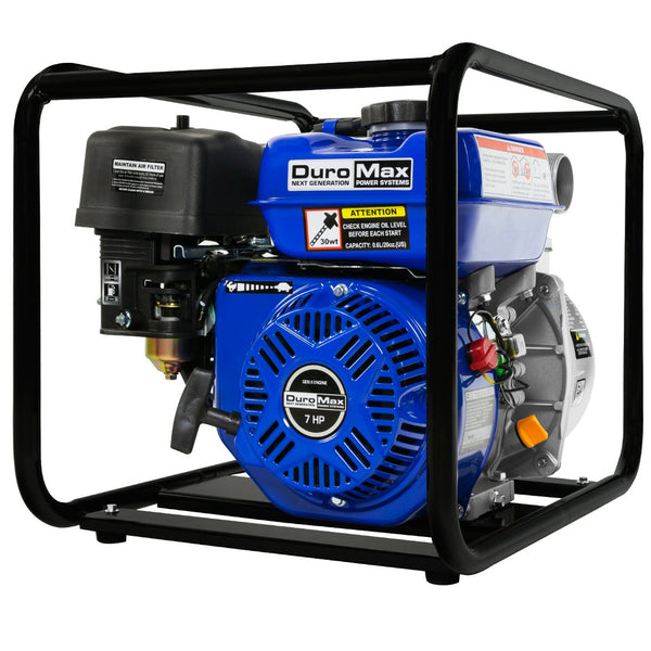 DuroMax - 7 HP 2 in Portable Utility Gas Powered Water Pump - XP652WP
