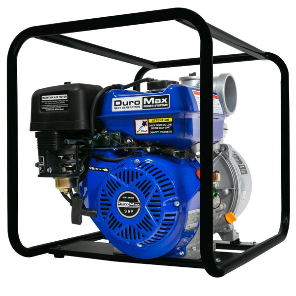 DuroMax - 9 HP 4 in Utility Gas Powered Water Pump - XP904WP