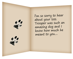 Tips On Writing A Pet Loss Condolence Note  Condolence Sample Note