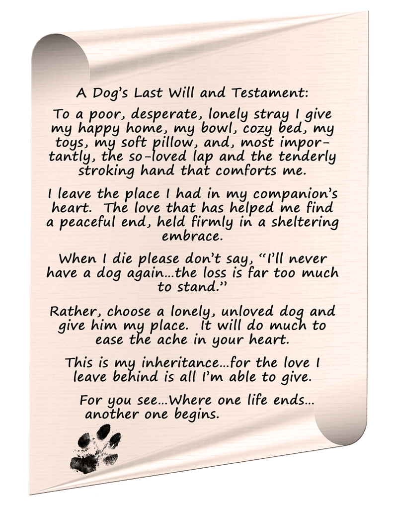 dogs last will and testiment