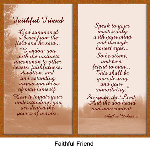 Faithful Friend pet loss poem