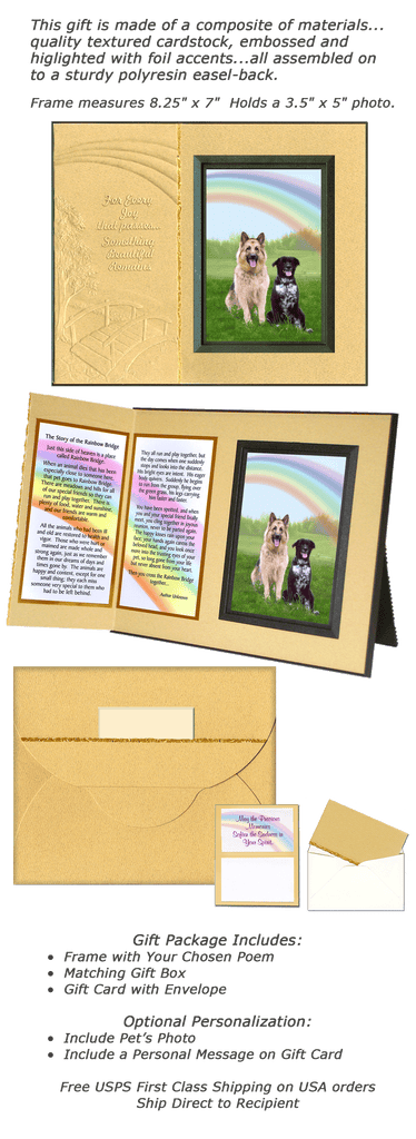 Rainbow Bridge For Horses Sympathy Picture Frame Gift And Memorial
