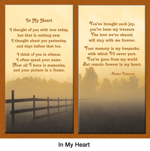 In My Heart pet loss poem