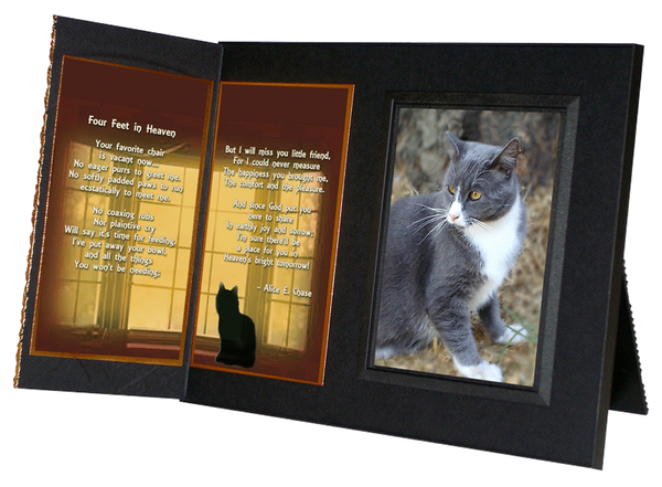 "Cat Lover Remembrance Gift, ""Four Feet in Heaven"", Memorial Pet Loss P - Healing the Heart"