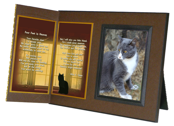 Cat Lover's Pet Memorial Remembrance Frame