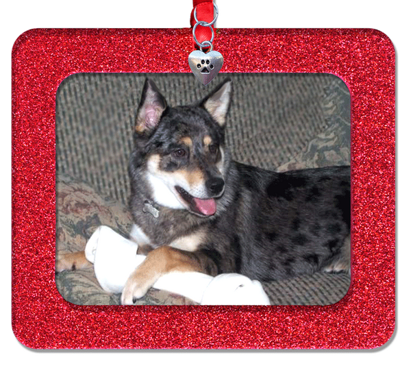 Pet Memorial & Remembrance Photo Ornament - Horizontal