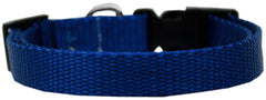 Plain Nylon Cat Safety Collar Blue