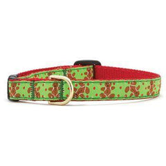 Cat Collars & Leashes,For Cats - Gingerbread Men Cat Collar By Up Country