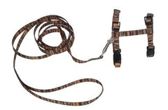 Collars - Master The Outdoors Harness & Leash Combo - Tiger Print