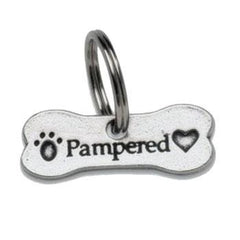 Collars - PewterCat Collar Charm: Pampered