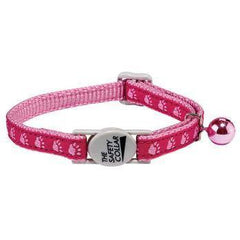 Collars - Two Tone Paw Print Cat Collar In Pink