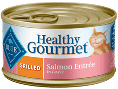 Food - BLUE Healthy Gourmet® Grilled Salmon Entrée, 24 Cans, 3-oz