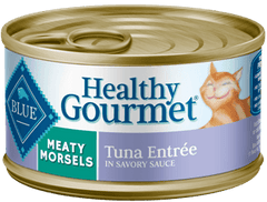 Food - BLUE Healthy Gourmet® Meaty Morsels Tuna Entrée, 24 Cans, 3-oz