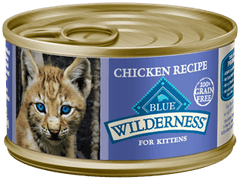 Food - BLUE Wilderness® Chicken Recipe For Kittens, 24 Cans, 3-oz