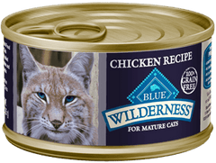 Food - BLUE Wilderness® Chicken Recipe For Mature Cats