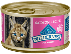 Food - BLUE Wilderness® Salmon Recipe For Kittens, 24 Cans, 3-oz