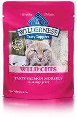 Food - BLUE Wilderness® Wild Cuts Tasty Toppers Tasty Salmon Morsels, 24 Pouches, 3-oz