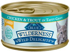 Food - BLUE Wilderness® Wild Delights™ Flaked Chicken & Trout Recipe