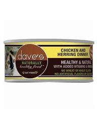 Food - Dave's Pet Food Naturally Healthy Grain-Free Chicken & Herring Dinner, 24 Cans, 5.5-oz