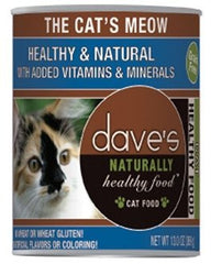 Food - Dave's Pet Food Naturally Healthy Grain-Free The Cat's Meow, 13-oz, Case Of 12