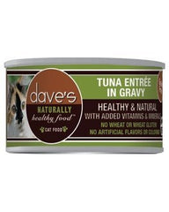 Food - Dave's Pet Food Naturally Healthy Grain-Free Tuna Entree (in Gravy)