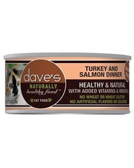 Food - Dave's Pet Food Naturally Healthy Grain-Free Turkey & Salmon Dinner, 24 Cans, 5.5-oz