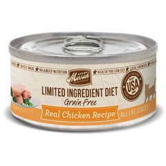 Food - Merrick Limited Ingredient Diet Grain-Free Real Chicken Paté Recipe, 24 Cans, 5-oz