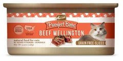 Food - Merrick Purrfect Bistro Grain-Free Beef Wellington Morsels (in Gravy), 24 Cans, 5.5-oz,