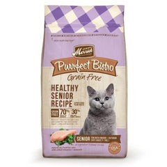 Food - Merrick Purrfect Bistro Grain-Free Healthy Senior Recipe, 7-lb Bag