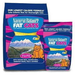 Food - Natural Balance Fat Cats With Chicken Meal, Salmon Meal, Garbanzo Beans, Peas & Oatmeal
