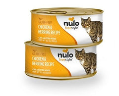 Food - Nulo Freestyle Chicken & Herring Recipe Grain-Free Cat & Kitten, 12 Cans, 5.5-oz