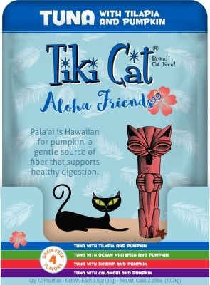 Tiki Cat Aloha Friends Variety Pack, 12 3-oz pouches