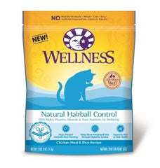 Food - Wellness Natural Hairball Control Chicken Meal & Rice Recipe, 2.5 Lbs.
