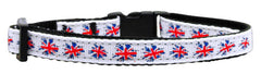 Graffiti Union Jack(UK Flag) Nylon Ribbon Collar Cat Safety