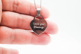 Engraved Stainless Steel Medium Padlock Heart Necklace Pendant