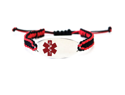 Micro Paracord Medical ID Bracelet