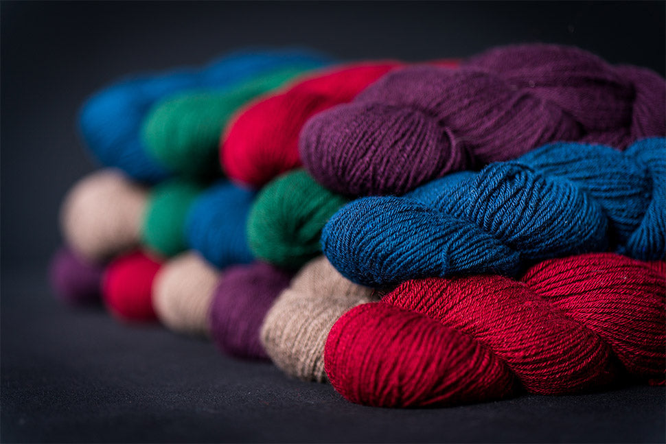 100% Qiviut Natural and Dyed Yarn (Credit: DNV Photo)