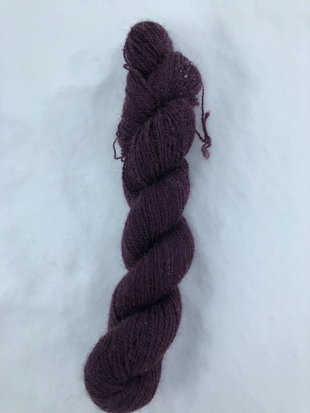 Qiviut Yarn - 100% - Lace - 1 oz - Plum Colour