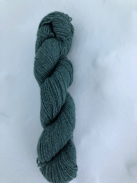 Qiviut:Silk - Lace - 1 oz - Blue-green
