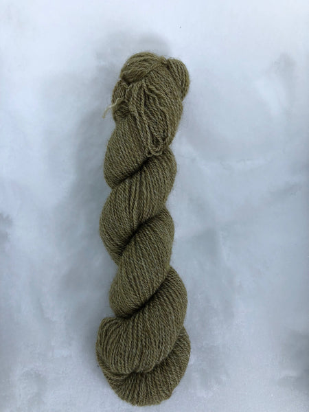 Qiviut Yarn - 50% - Lace - 1 oz - Moss Colour