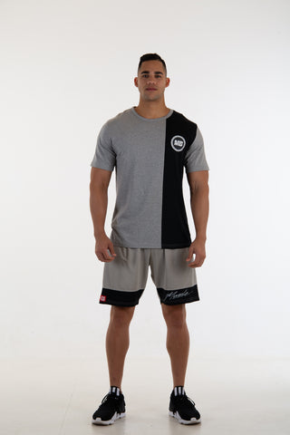 Grey/Black Summer Tee with Badge